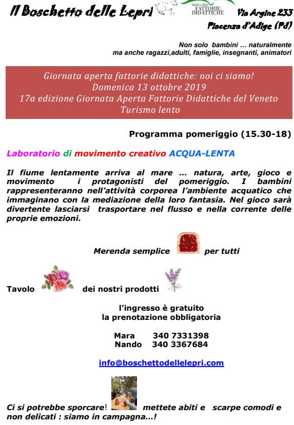FATTORIA DIDATTICA 131019 - IL BOSCHETTO DELLE LEPRI