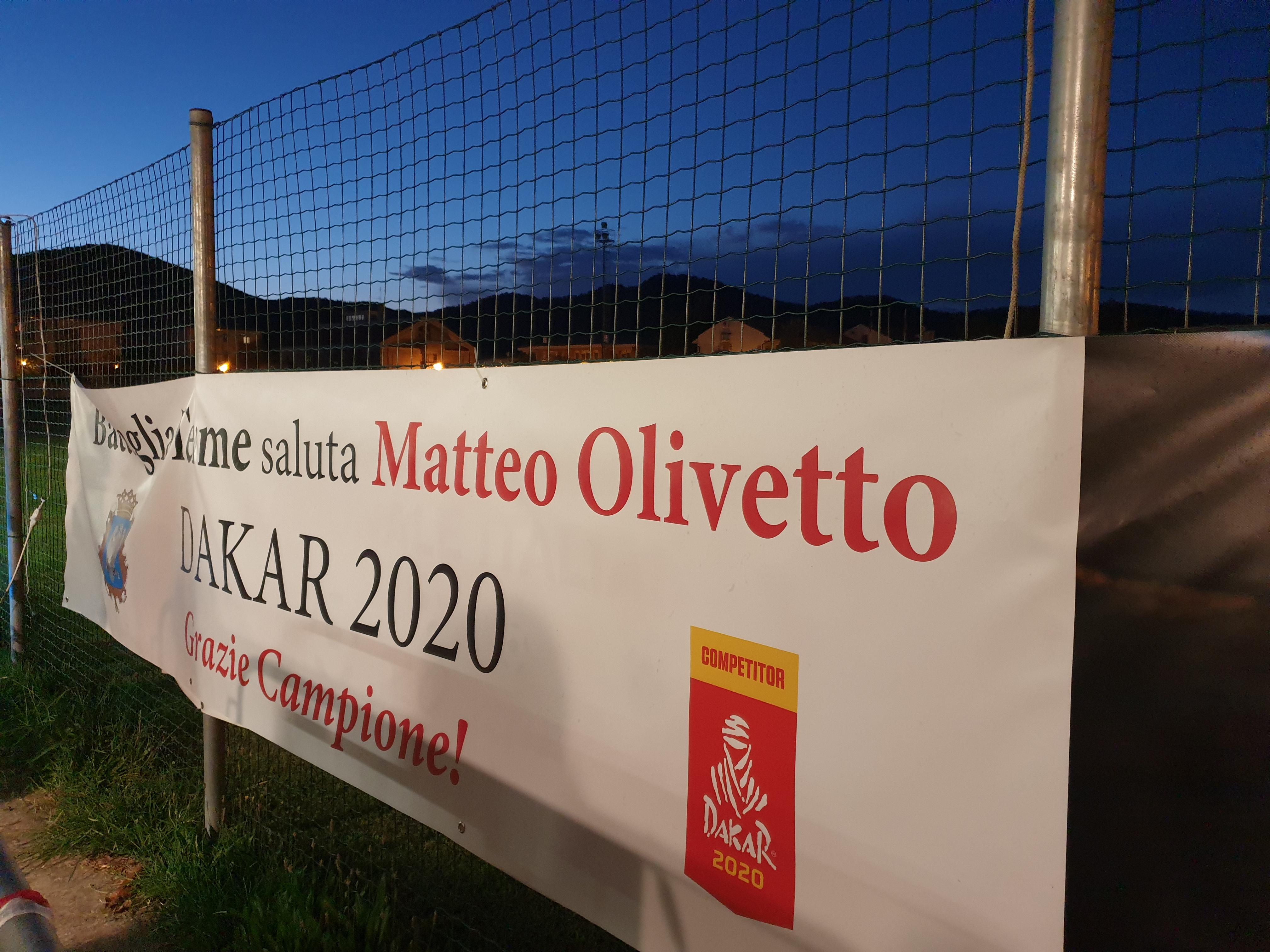 Festa Ringraziamento Matteo Olivetto - Dakar 2020