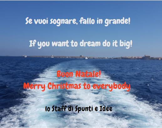 Buon Natale - Merry Christmas dallo staff di Spunti e Idee